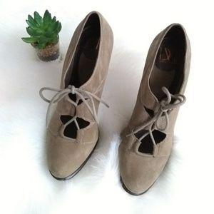 Diane Von Furstenberg suede Guardian heels sz 9m